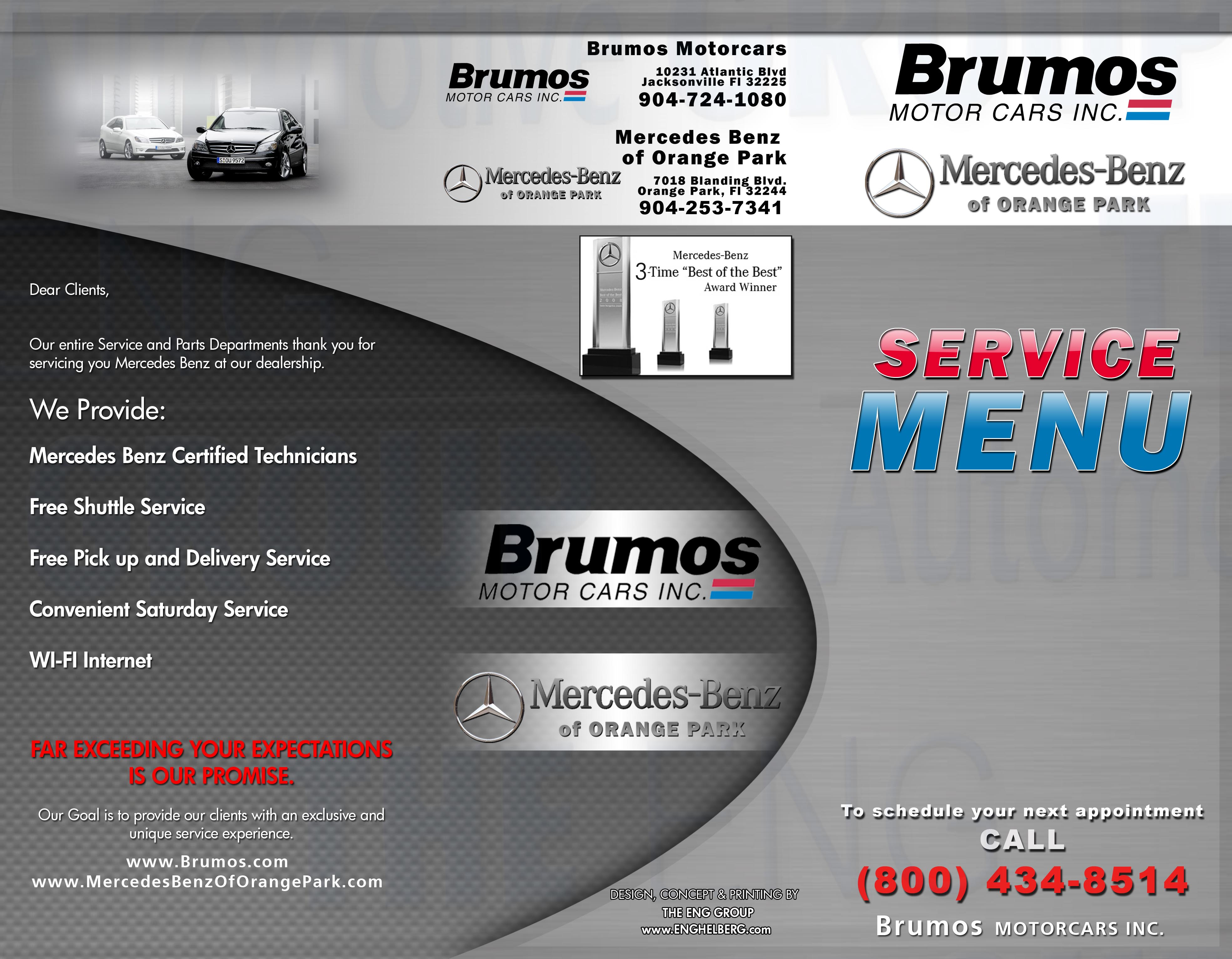 The eng group customer education and information program for Brumos mercedes benz